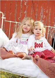 matching polka dot flannel sibling pajamas