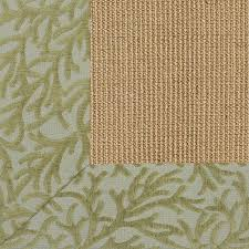 exclusive coral chenille border sisal rug shades of light