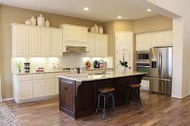 How To Stain Kitchen Cabinets by Choose Flooring That Compliments Cabinet Color Burrows Cabinets