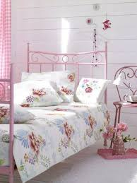 Shabby Chic White Bed Frame by Bedroom Shabby Chic Bedroom With White Table Light On White