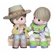wdw store disney precious moments figurine woody buzz