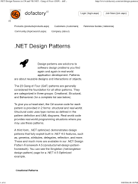 of four design patterns net design patterns in c and vb net of four gof