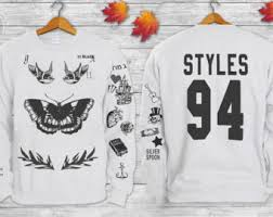 one direction sweater harry styles tattoos one direction 1d crewneck sweatshirt sweater