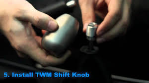 twm performance shift knob install how to youtube