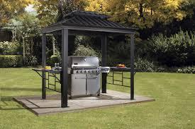 Outdoor Patio Grill Gazebo by Sojag Bbq Messina 8 Ft W X 6 Ft D Aluminum Grill Gazebo Wayfair