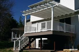 Large Pergola Designs by Deck With Pergola And Fireplace Deck Pergola Plans Free Deck With