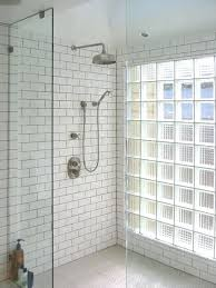 shower glass block shower screen uk glass brick shower cubicle