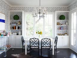wallpaper for dining room ideas amazing wallpaper design with classic black and white dining room