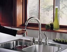 delta kitchen faucet reviews kitchen faucets with soap dispenser visionexchange co