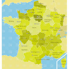 Champagne France Map by France Regions Vector Image 1085 U2013 Rfclipart