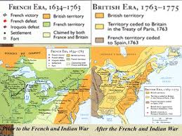 america map before and after and indian war the and indian war and compete in