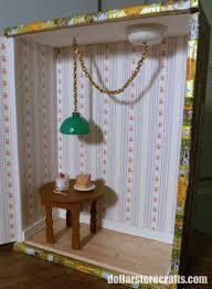 Dollhouse Lighting Fixtures Make A Miniature Hanging Light Fixture Dollar Store Crafts