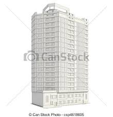 stock illustrations of 3d construction of office building