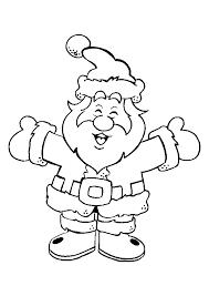 Coloriage Joyeux Père Noel