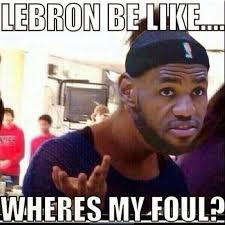 Funny Finals Memes - lebron james wheres foul funny nba memes jokes nba finals game 3 spurs vs heat 2014 jpg