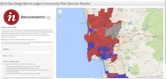 Map Of Election Results by 2014 San Diego Barrio Logan Community Plan Election Results San