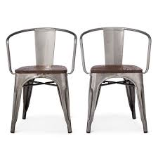 Metal Dining Chairs Carlisle Metal Dining Chair Distressed Metal Set Of 2 Target