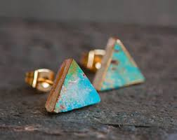 turquoise studs turquoise studs etsy