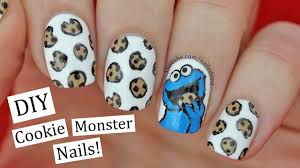 cookie monster nail art youtube