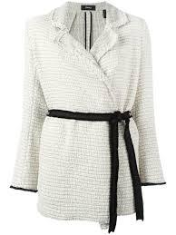 theory clothing theory leather skirts theory drawstring tweed jackets ivory multi