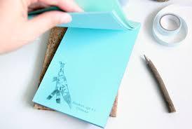 make a custom diy notepad using kids artwork the crazy craft lady