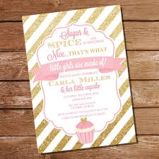 sugar and spice baby shower sugar and spice baby shower invitation for a girl