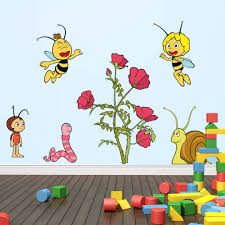 maya bee flower party wall wall art