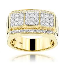 diamond ring for men design 14k gold designer diamond ring for men by luxurman 0 95ct g h vs si