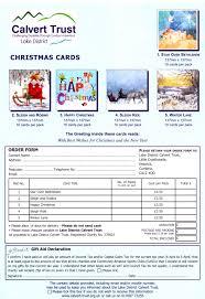 christmas cards calvert trust