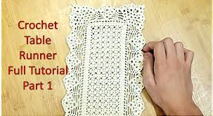 learn how to crochet table runner and customize it u0027s length