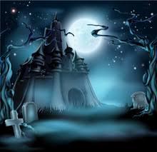 larger view halloween backdrop fab vinyl halloween themed