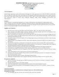 Sample Consultant Resume by Sap Technical Consultant Cv