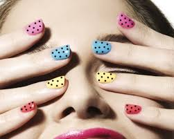 22 cute polka dot nail art design ideas