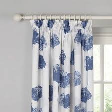 lined bedroom curtains ready made buyjohn lewis waterlily blackout lined pencil pleat curtains blue