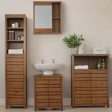 wood bathroom cabinet