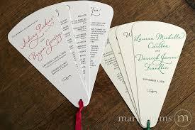 fan style wedding programs unique wedding programs 4 blade petal program fan diagonal style