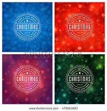 christmas card design set collection elegant stock vector