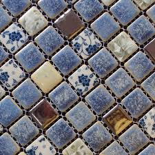 porcelain tile backsplash kitchen porcelain tile snowflake style mosaic design