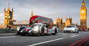 porsche race cars mark webber drives porsche 919 hybrid race car through london
