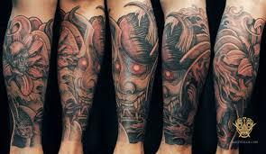Half Sleeve Forearm Tattoo Ideas 62 Japanese Hannya Mask Tattoos