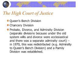 Queen S Bench Division Comparative Law Spring 2002 Professor Susanna Fischer Class 36