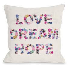 love dream hope pillow by angela nickeas u2013 dormify