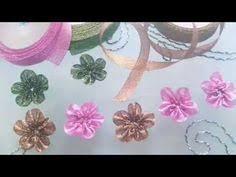 cara membuat bunga dari kertas pita jepang aneka bunga dari pita jepang membuat hiasan bunga dari pita jepang