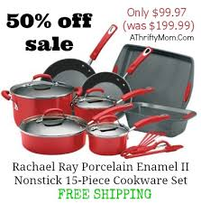 target rachel ray cookware black friday rachael ray porcelain enamel ii nonstick 15 piece cookware set