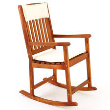 Real Wood Rocking Chairs Wooden Rocking Chair Traditional Rocking Armchair Tropical Exotic