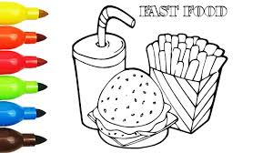 fast food hamburger coloring pages kids fun art activities