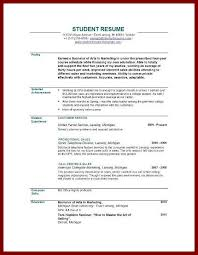 resume template for recent college graduate resume for recent