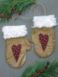 ornaments bowl fillers mittens primitive mittens