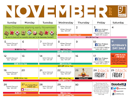 sales event calendar goodwill
