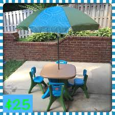 Kids Patio Umbrella Find More Step 2 Deluxe Play And Shade Kids Patio Set For Sale At